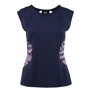 Eleven Thika Center Stage Cap Sleeve Top - Blue Nights