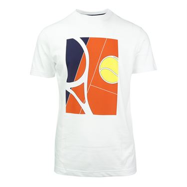 Lacoste Tennis Racquet Graphic Tee - White