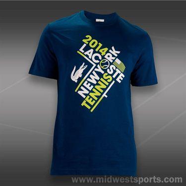 Lacoste New York Tennis T-Shirt-Blue/White, TH640551TYE