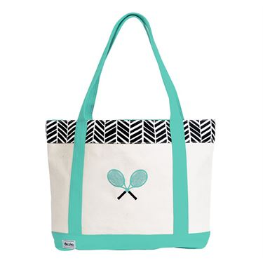 Ame and Lulu Tennis Lovers Tote - Black Shutters Print