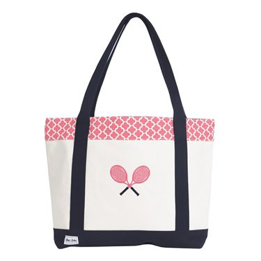Ame and Lulu Tennis Lovers Tote - Clover Print