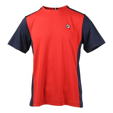 Fila Heritage Color Blocked Crew - Chinese Red/Peacoat