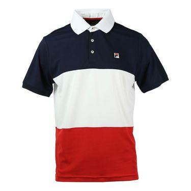 Fila Heritage Color Blocked Polo - Peacoat/White