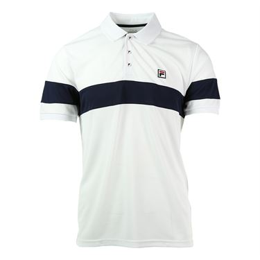 Fila Heritage Chest Stripe Polo - White
