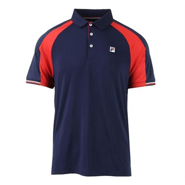 Fila Heritage Polo - Navy/Chinese Red