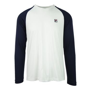 Fila Heritage Long Sleeve Crew - White/Navy