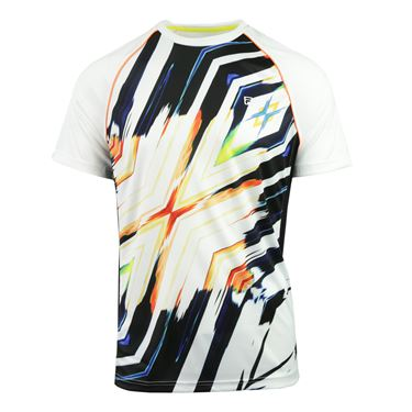 Fila Zephyr Print Crew - White/Black/Zephyr Orange