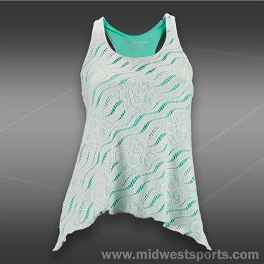 Denise Cronwall Calypso Lace Tank-White/Green