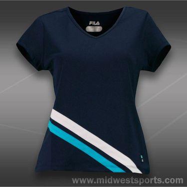 Fila Center Court Short Sleeve Top-Peacoat