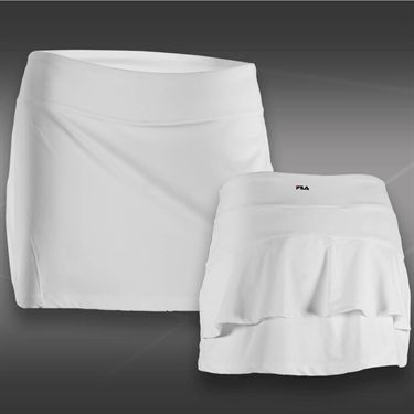 Fila Heritage Ruffle Skirt - White