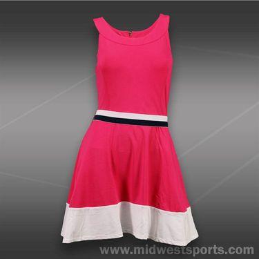 Fila Heritage Tennis Dress-Lipstick/White