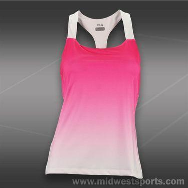 Fila Baseline Racerback Tank-Pink Glow/White