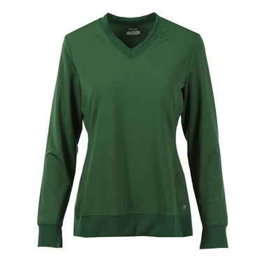 Fila Core Long Sleeve Top - Forest Green