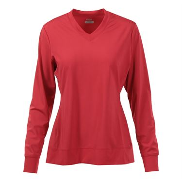 Fila Core Long Sleeve Top - Poppy Red