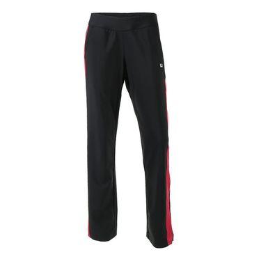 Fila Sleek Streak Pant - Black/Ruby Rose