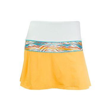 Fila Tropical Slice Pleated Back Skirt - Orange Pop/White/Tropical Print/Blue Bird