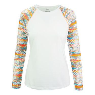 Fila Tropical Slice Long Sleeve Top - White