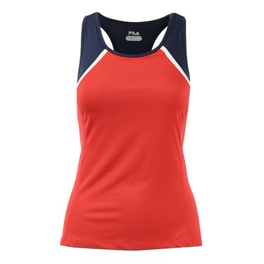 Fila Heritage Racerback Tank - Chinese Red/Navy/White