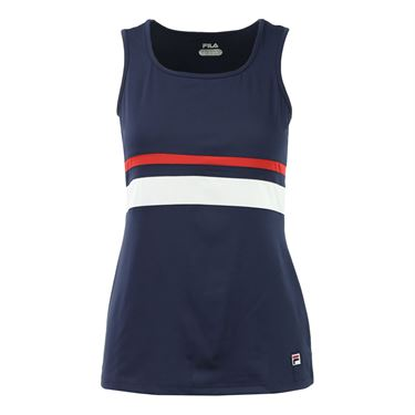 Fila Heritage Full Coverage Tank - Navy/White/Chinese Red