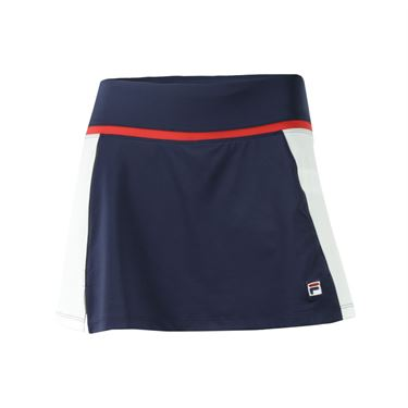 Fila Heritage Skirt - Navy/White/Chinese Red