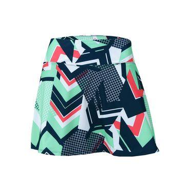 Fila Heritage Printed Skirt - Retro Print/Navy/Mint