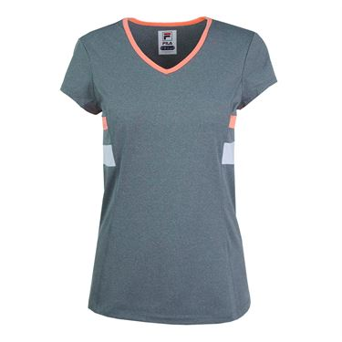 Fila Game Day Short Sleeve Top - Charcoal Heather