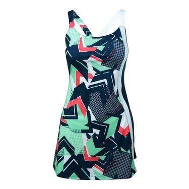 Fila Heritage Printed Dress - Retro Print/Navy/Mint