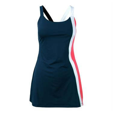 Fila Heritage Dress - Navy/Diva Pink/Mint