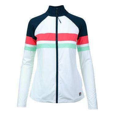 Fila Heritage Jacket - White/Navy/Diva Pink
