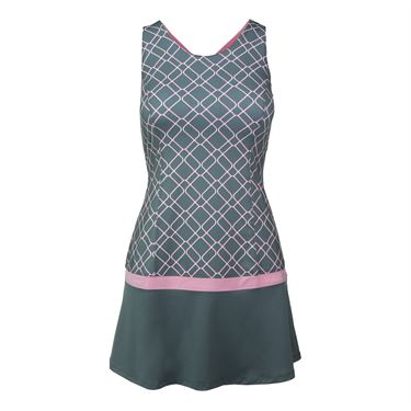 Fila Simply Smashing Dress - Elite Print/Prism Pink
