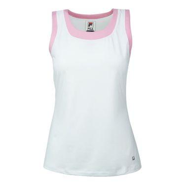Fila Simply Smashing Full Coverage Tank - White/Prism Pink