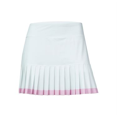 Fila Simply Smashing Pleated Skirt - White/Prism Pink