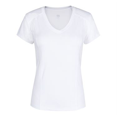 Tail Short Sleeve V Neck Top - White