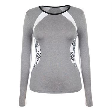 Tail Savannah Essentials Long Sleeve Top - Frosted Heather