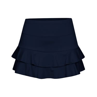 Tail Double Tiered Skirt-Navy