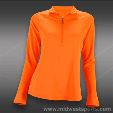 JoFit Lanai Long Sleeve Top-Orange Crush