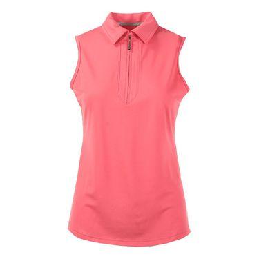 Jofit Cabernet Jacquard Sleeveless Golf Polo - Sherbet Pink