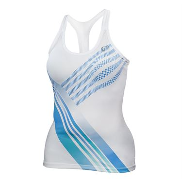 Athletic DNA Racerback Tank - White/Blue Stripe
