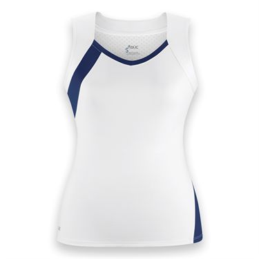 DUC Wink Tank-White/Navy Blue