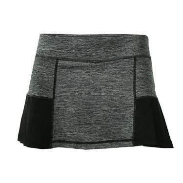 Head Pleated Marled Skirt - Black