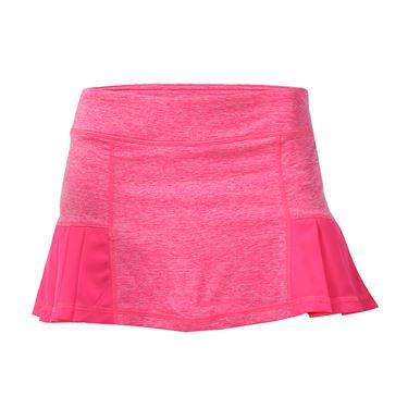 Head Pleated Marled Skirt - Knockout Pink Heather