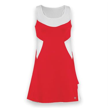 DUC Tease Tennis Dress - Red/White
