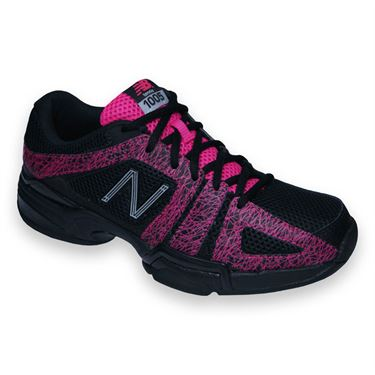New Balance WC1005BP (B) Womens Tennis Shoe-Black/Pink
