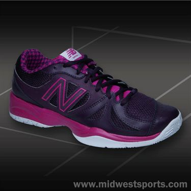New Balance WC696PB (D) Womens Tennis Shoe-Poisonberry/Black Grape