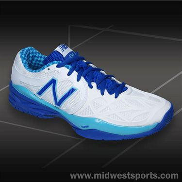 New Balance WC996PU (B) Womens Tennis Shoe-Paradise Blue/White