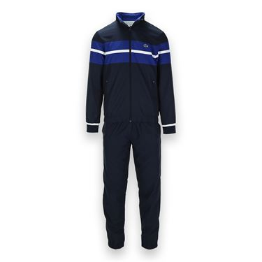 Lacoste Sport Stripe Warm Up - Navy/Royal/White