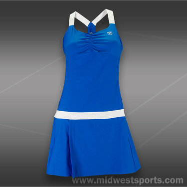 Wilson Tea Lawn Dress-Royal Blue