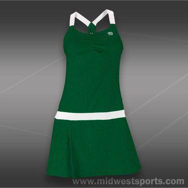 Wilson Tea Lawn Dress-Forest Green