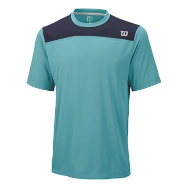 Wilson Knit Stretch Woven Crew - Cool Mint/Navy
