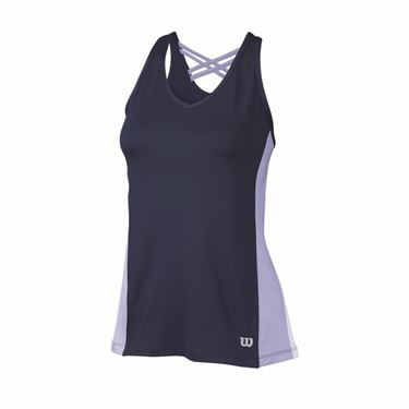 Wilson Classic Fit Tank - Navy/Sweet Lavender